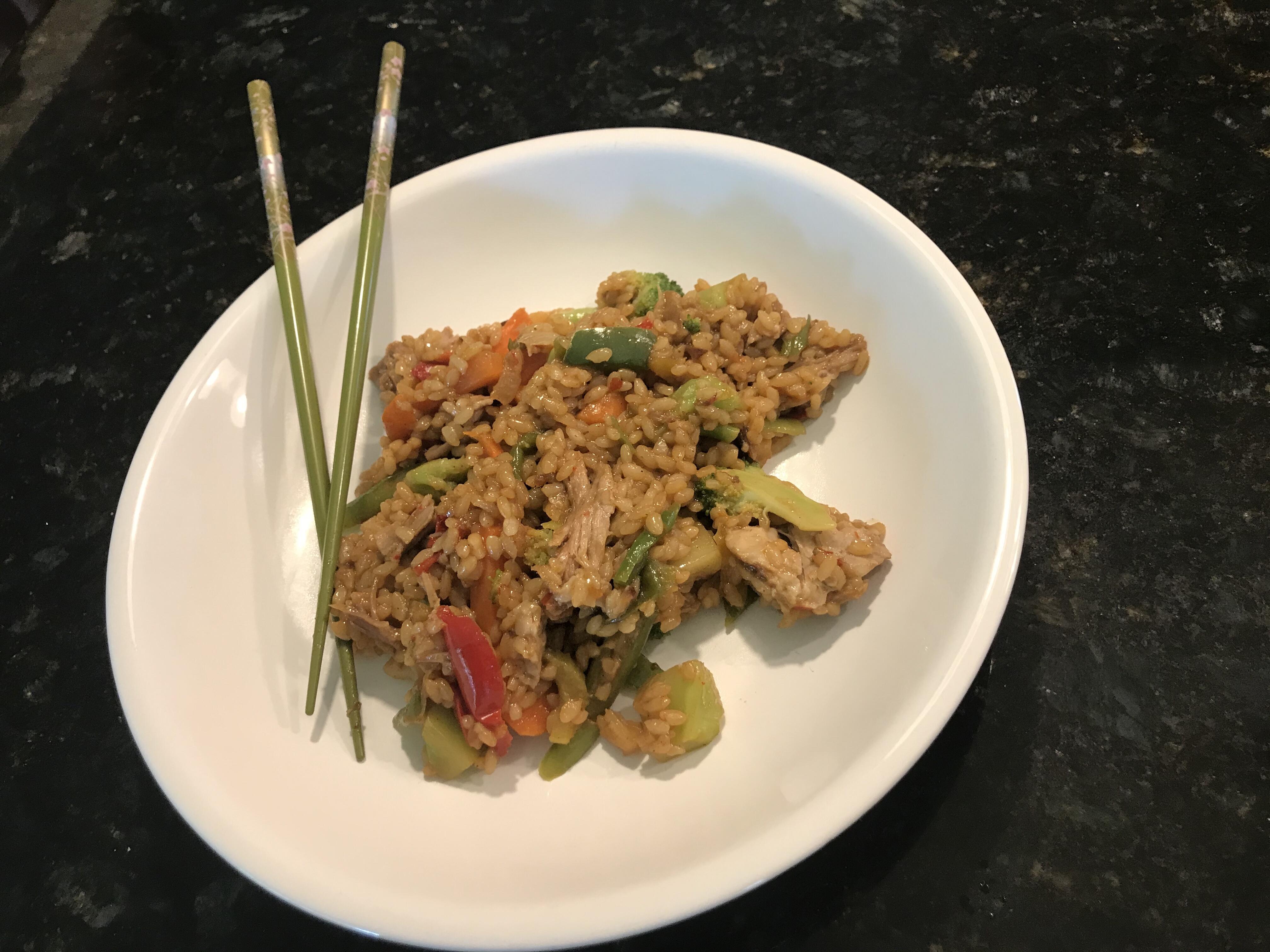 Pork Vegetable Fried Rice Recipe